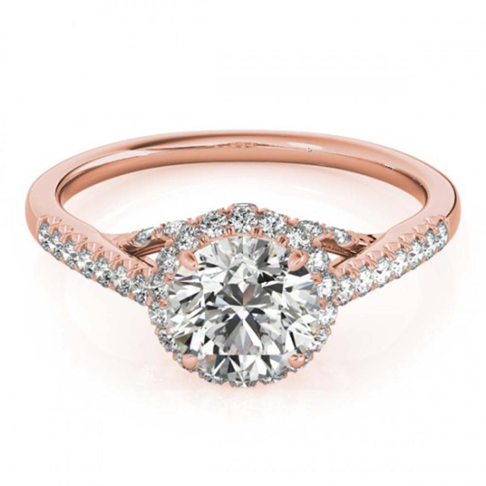 1.50 ctw VS/SI Diamond Halo Ring 14K Rose Gold - REF-279V8Y - SKU:24840