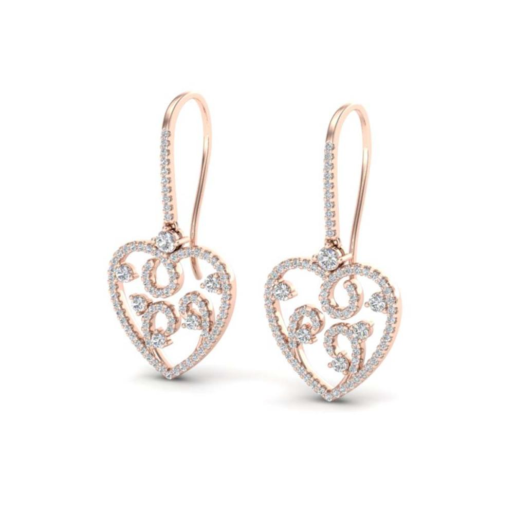 2.50 ctw VS/SI Diamond Earrings 14K Rose Gold - REF-176F4N - SKU:20096
