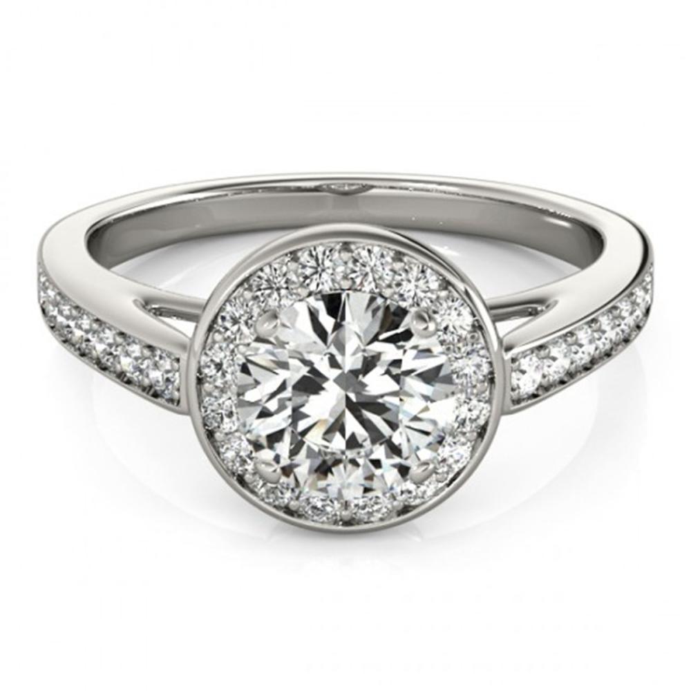 1.16 ctw VS/SI Diamond Halo Ring 14K White Gold - REF-133H6M - SKU:24411