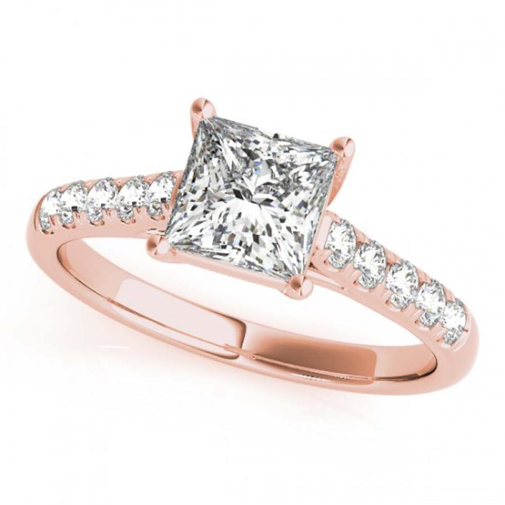 0.85 ctw VS/SI Princess Diamond Ring 14K Rose Gold - REF-98W5H - SKU:25962