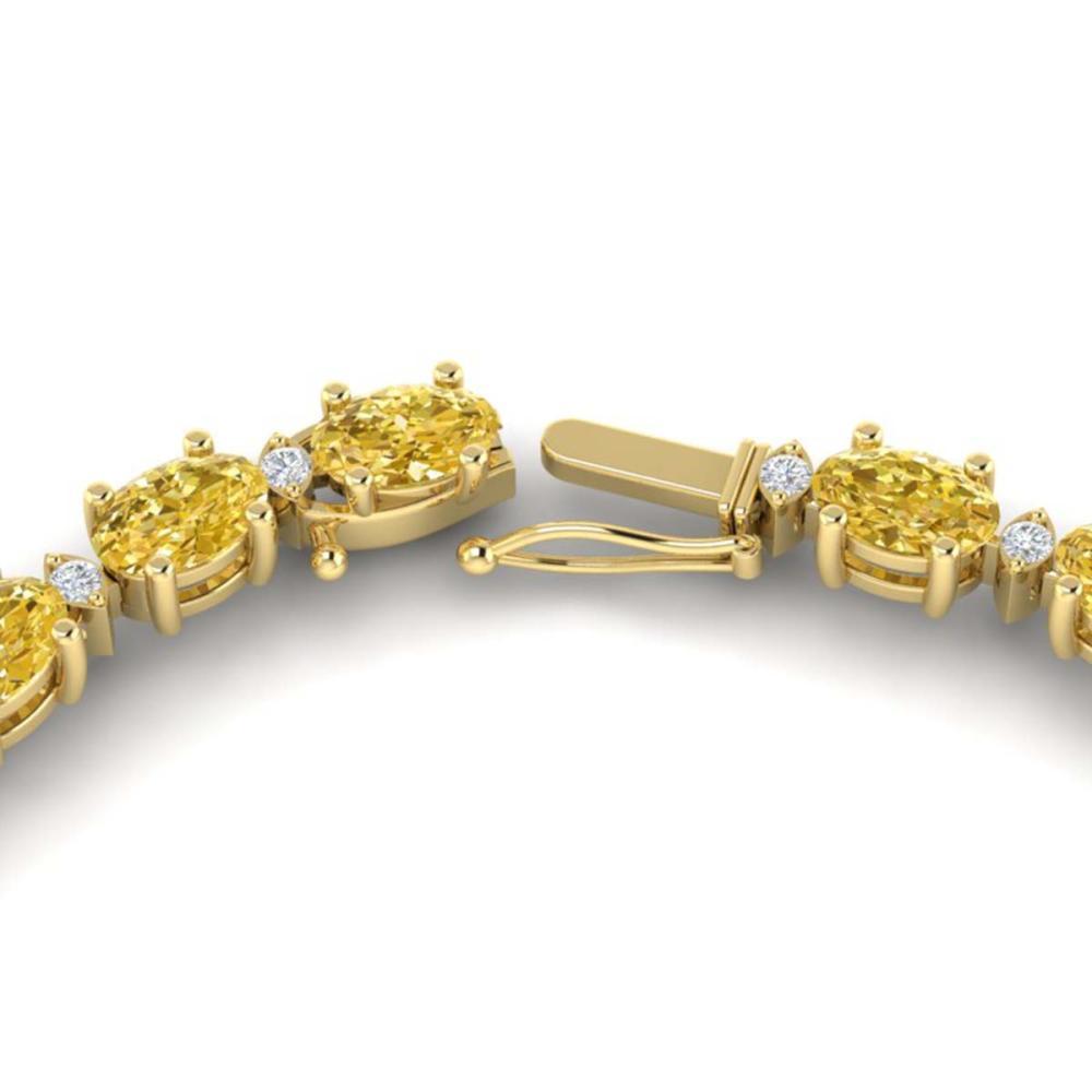 28 ctw Citrine & VS/SI Diamond Eternity Necklace 10K Yellow Gold - REF-146R5K - SKU:21591