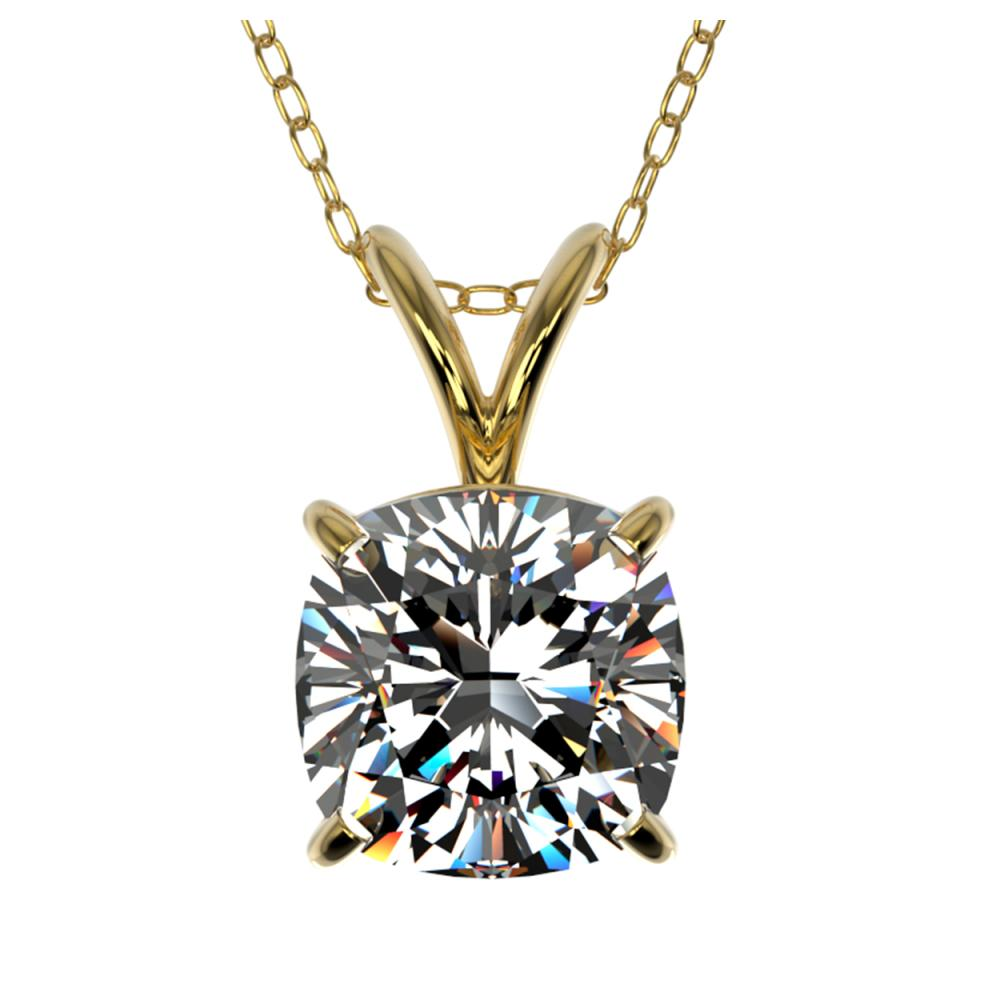1.25 ctw VS/SI Cushion Diamond Necklace 10K Yellow Gold - REF-397A5V - SKU:33219