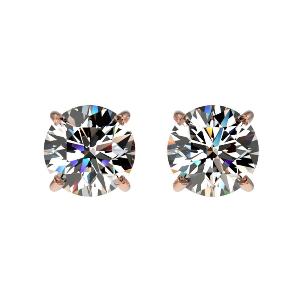 1.03 ctw H-SI/I Diamond Stud Earrings 10K Rose Gold - REF-103Y5X - SKU:36570