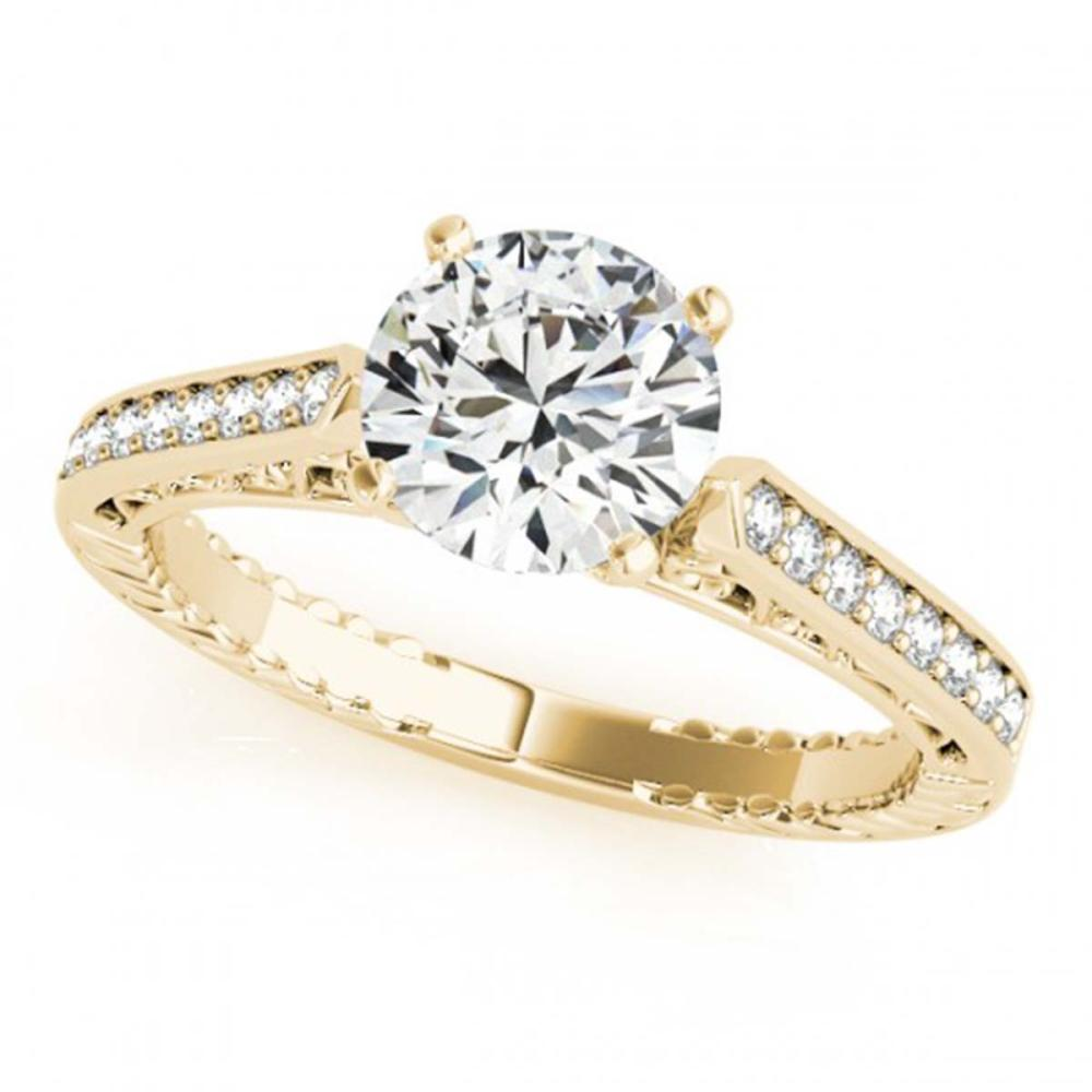 0.65 ctw VS/SI Diamond Solitaire Ring 14K Yellow Gold - REF-74Y4X - SKU:25219