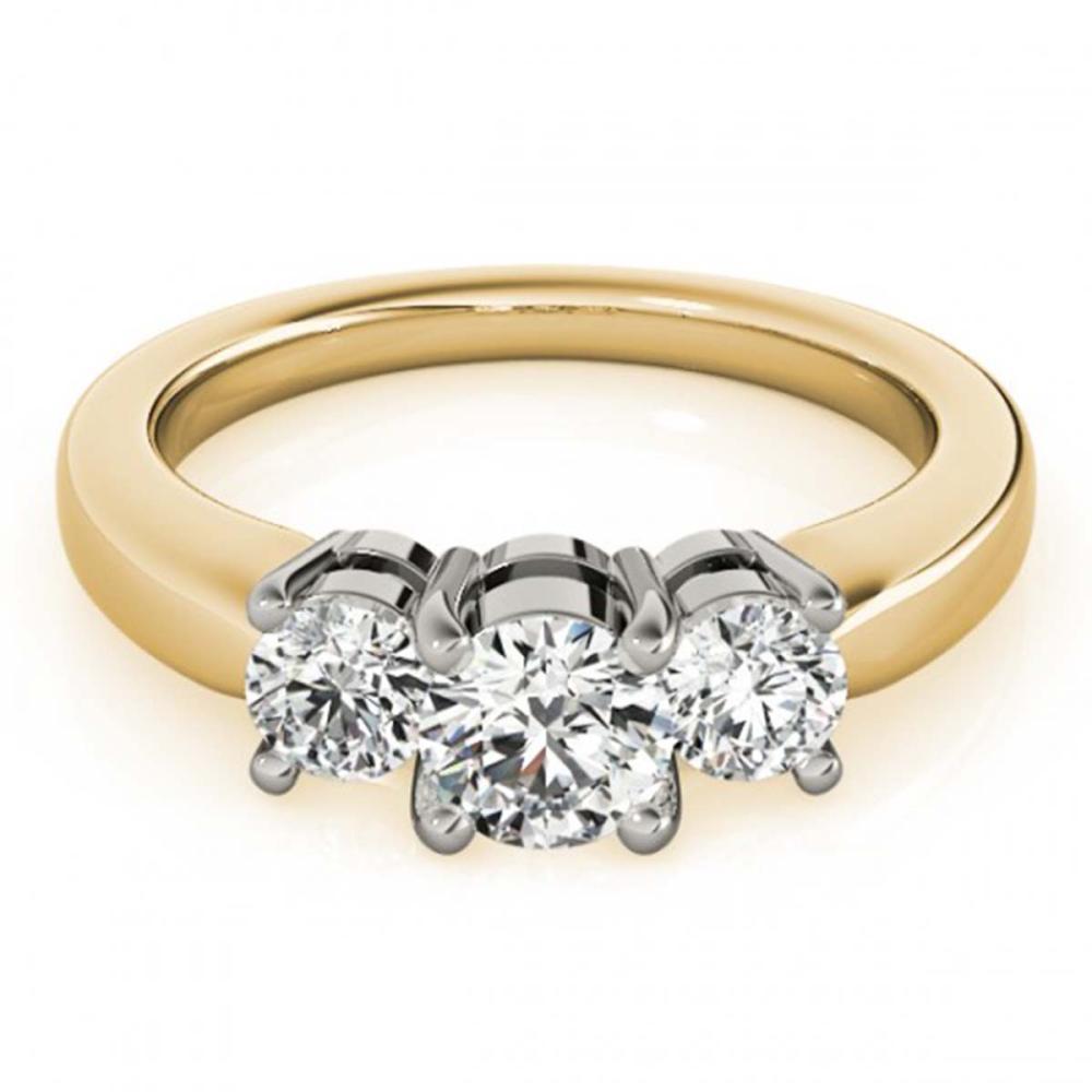 0.75 ctw VS/SI Diamond 3 Stone Ring 14K Yellow Gold - REF-66A8V - SKU:25912
