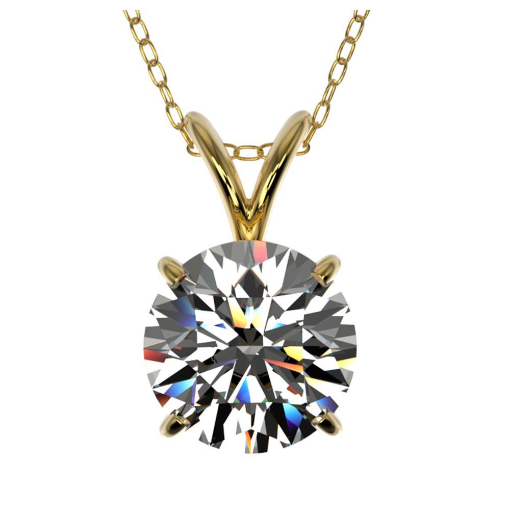 1.50 ctw H-SI/I Diamond Necklace 10K Yellow Gold - REF-322H5M - SKU:33222