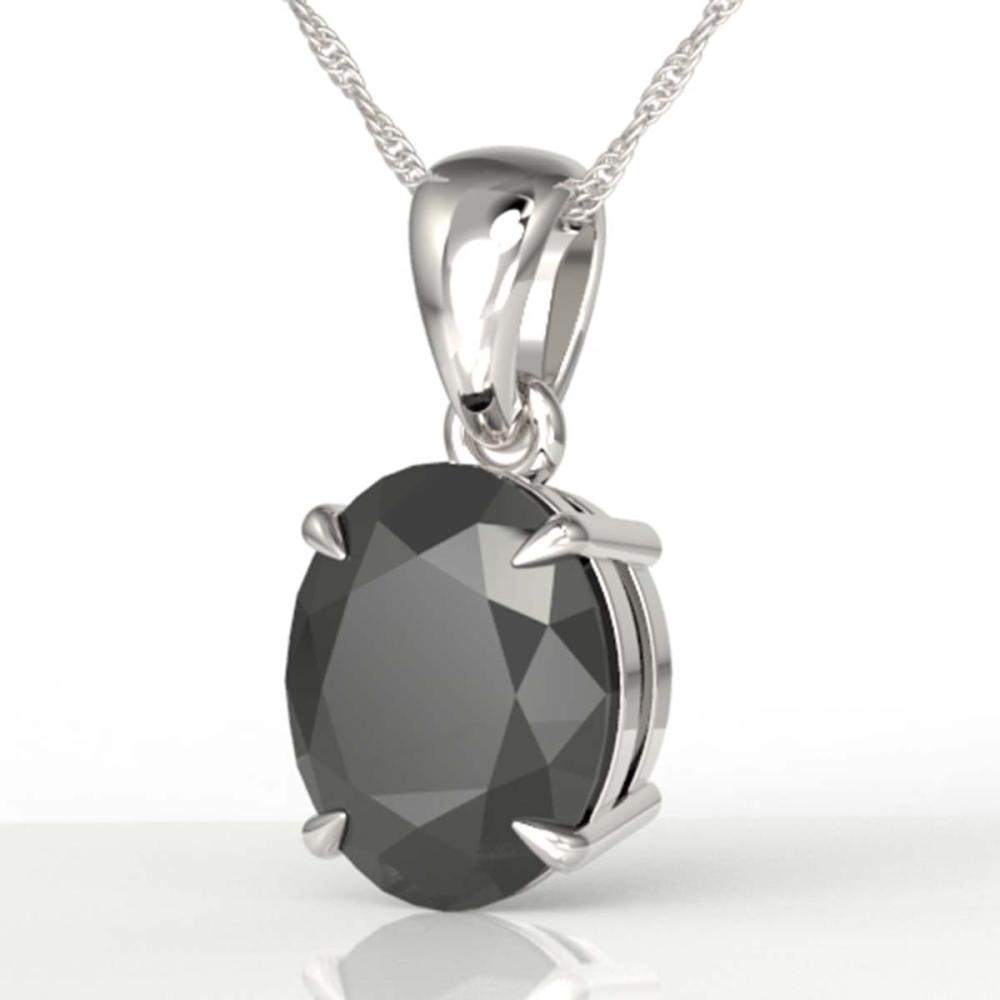 5 ctw Black VS/SI Diamond Necklace 18K White Gold - REF-161V8Y - SKU:21855