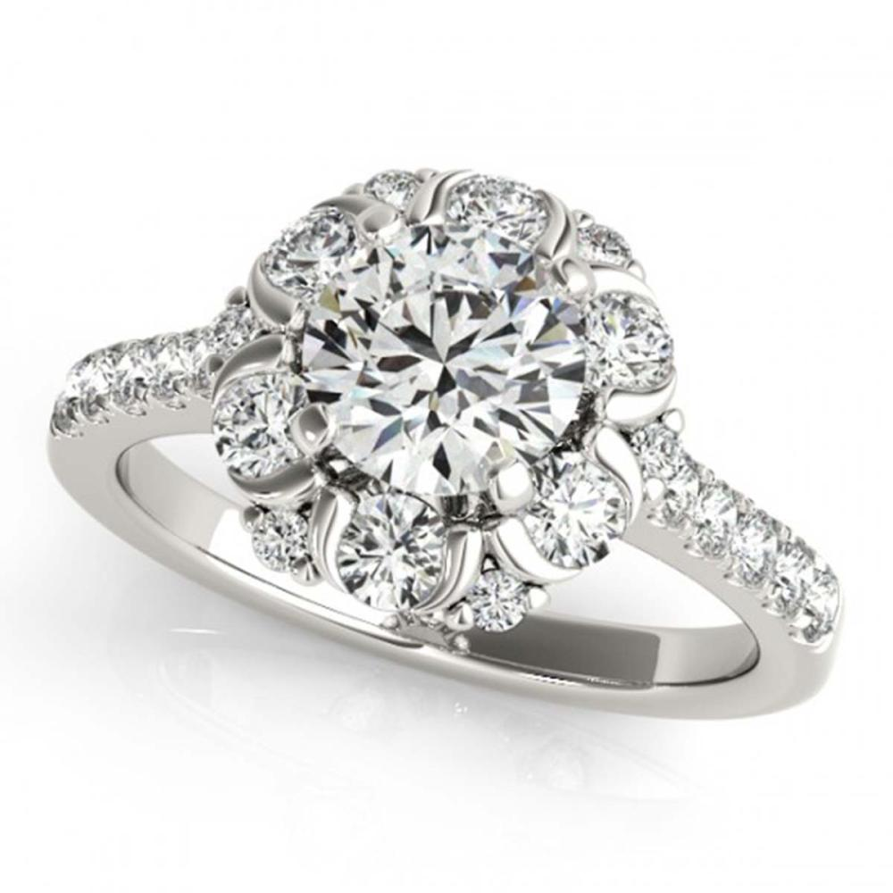 1.80 ctw VS/SI Diamond Solitaire Halo Ring 14K White Gold - REF-170W4H - SKU:24518