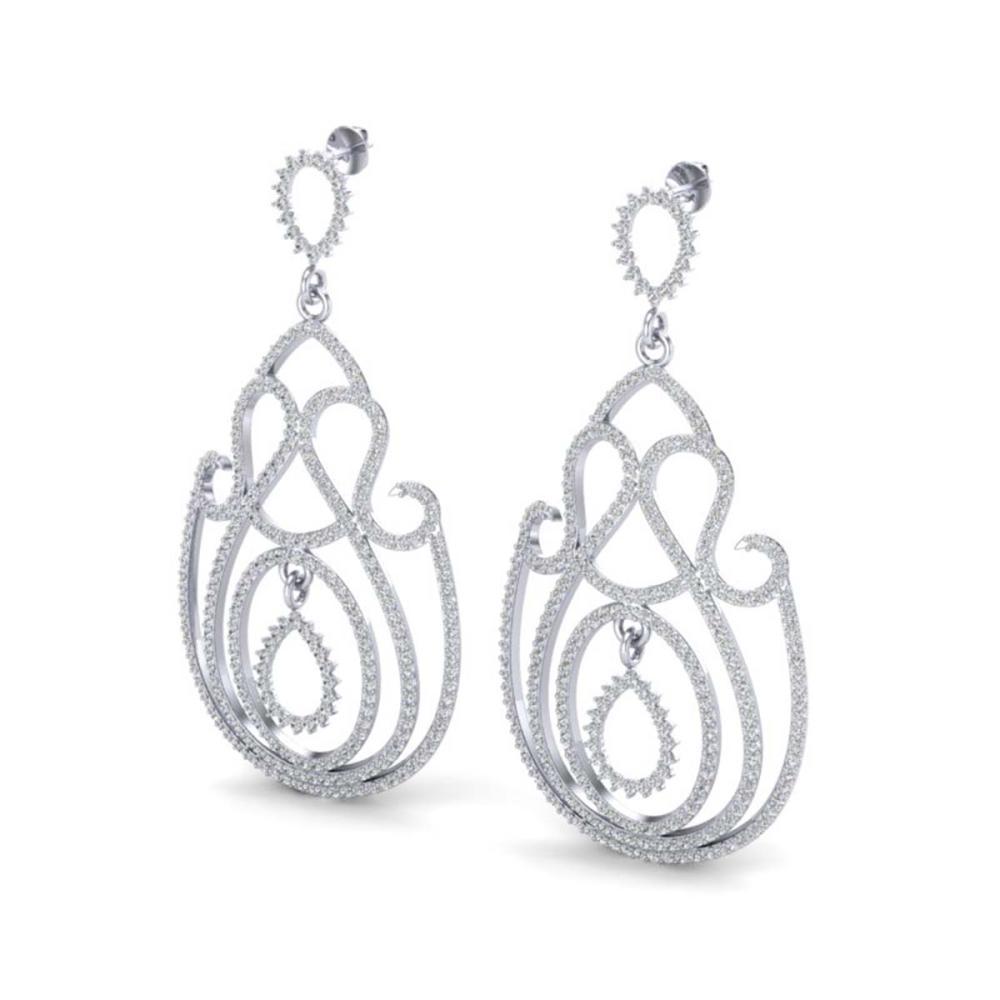 3.50 ctw VS/SI Diamond Earrings 14K White Gold - REF-291K3W - SKU:22446