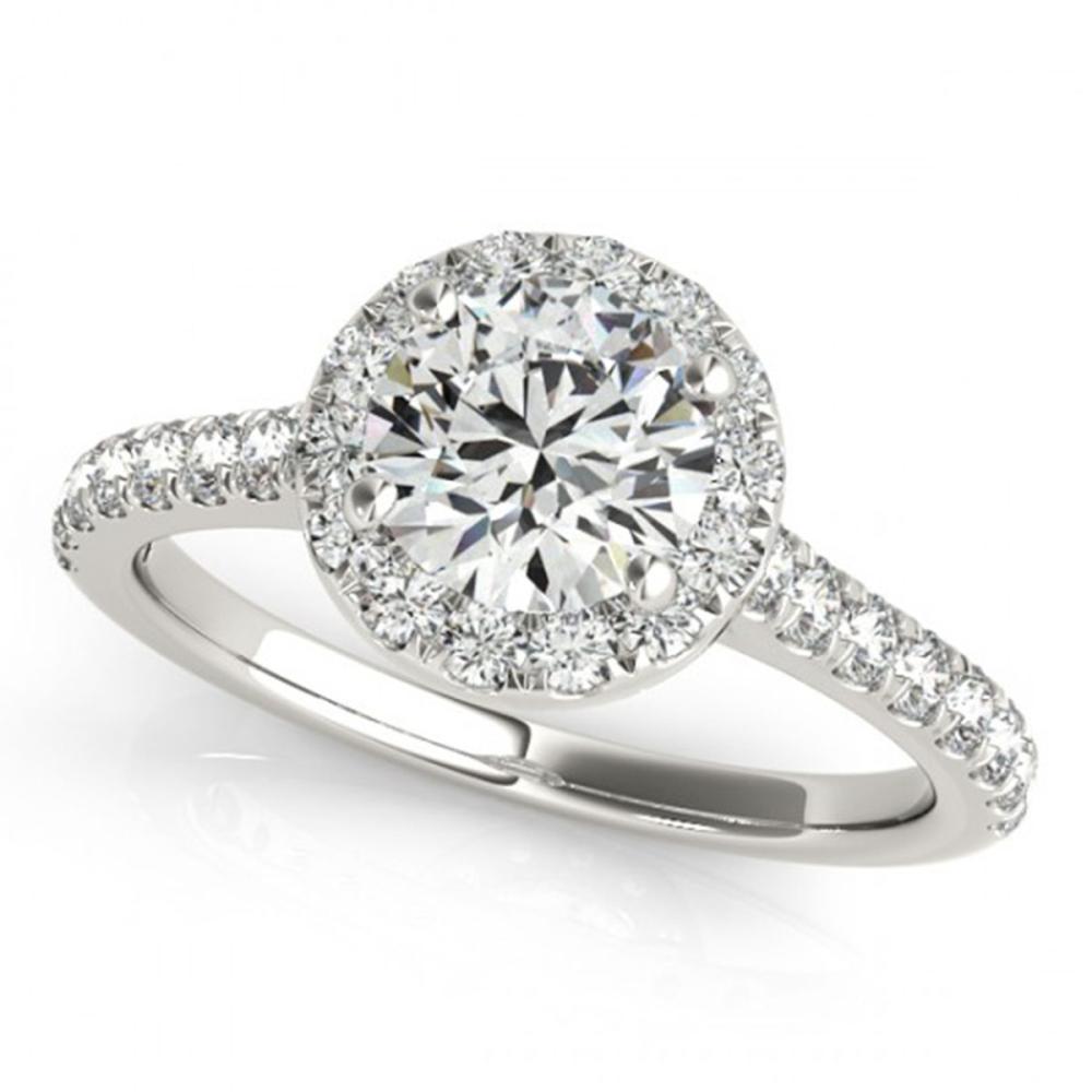 1.70 ctw VS/SI Diamond Solitaire Halo Ring 14K White Gold - REF-374R3K - SKU:24243