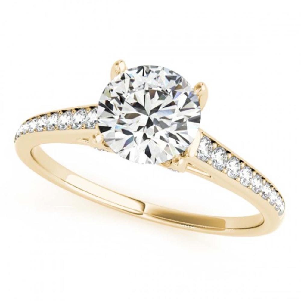 1.50 ctw VS/SI Diamond Solitaire Ring 14K Yellow Gold - REF-280K3W - SKU:25312