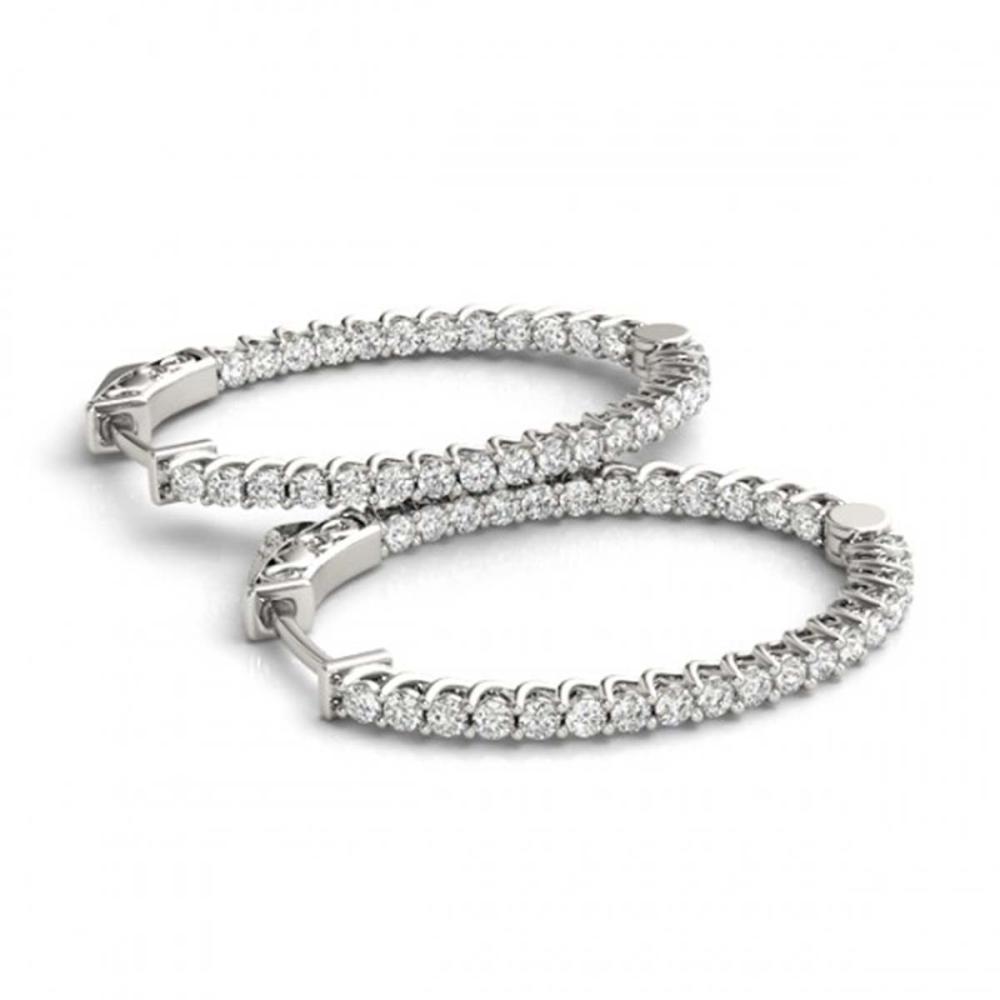 1.75 ctw Diamond VS/SI 30 mm Hoop Earrings 14K White Gold - REF-121N6A - SKU:29161
