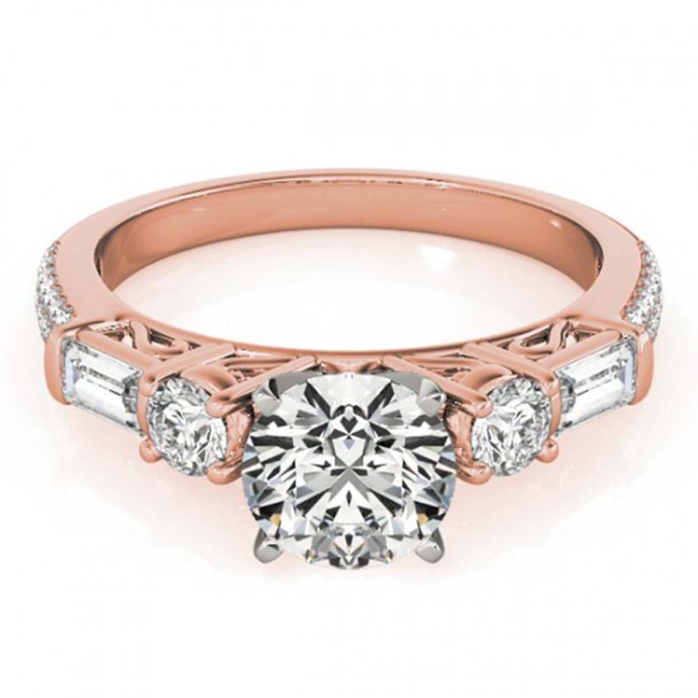 2.5 ctw VS/SI Diamond Ring 14K Rose Gold - REF-540K2W - SKU:25959