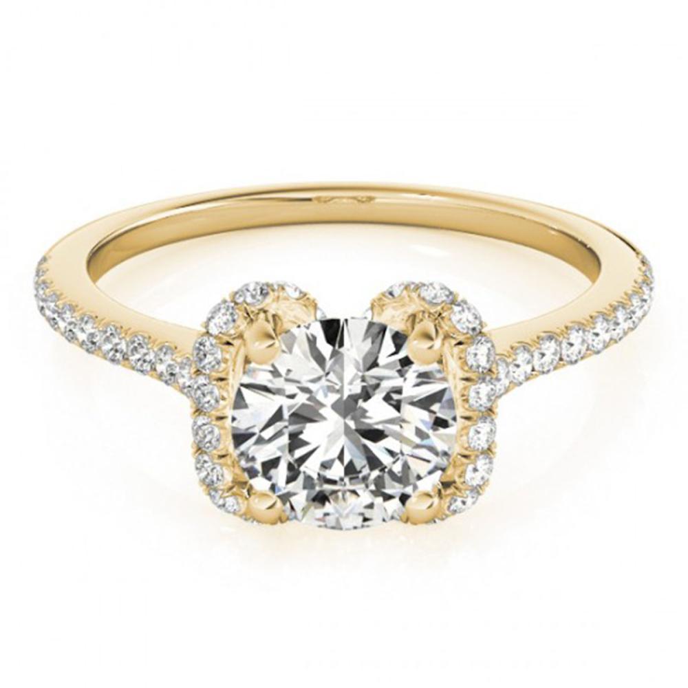 1.33 ctw VS/SI Diamond Halo Ring 14K Yellow Gold - REF-266X2R - SKU:24032