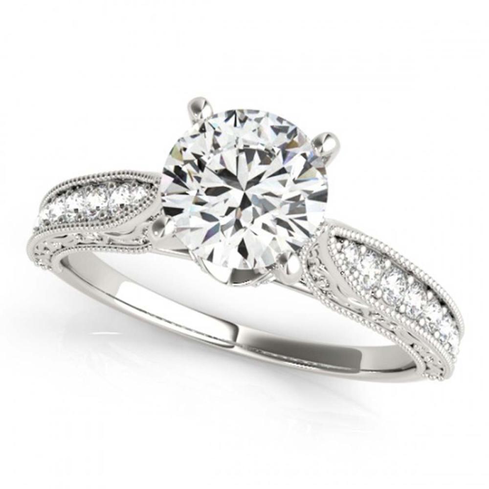 0.98 ctw VS/SI Diamond Ring 14K White Gold - REF-138X8R - SKU:25202