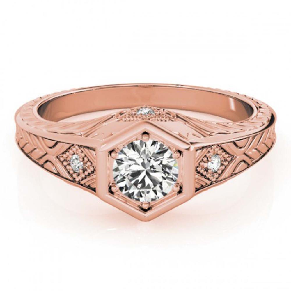 0.40 ctw VS/SI Diamond Solitaire Ring 14K Rose Gold - REF-46W4H - SKU:25071