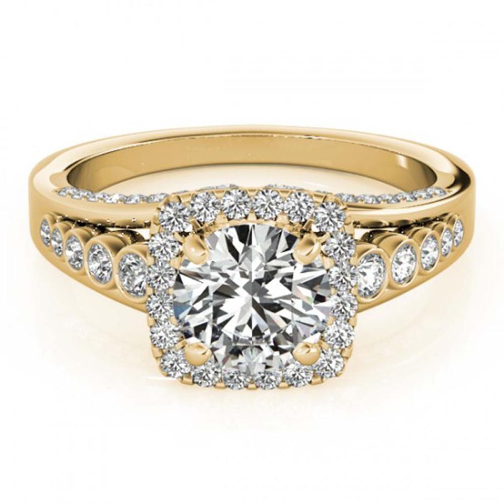 1.75 ctw VS/SI Diamond Solitaire Halo Ring 14K Yellow Gold - REF-298K9W - SKU:24793