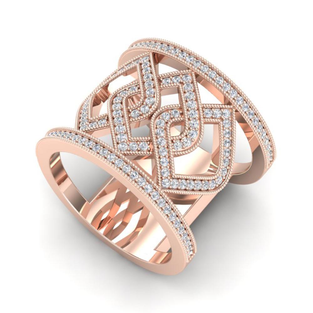 0.90 ctw Ring VS/SI Diamond 14K Rose Gold - REF-90F2N - SKU:20879
