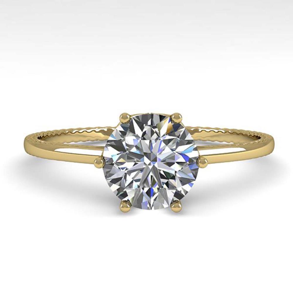 1.0 ctw VS/SI Diamond Ring 14K Yellow Gold - REF-274M4F - SKU:29707