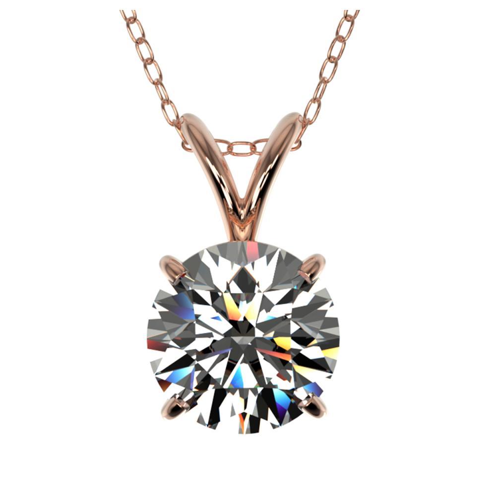 1.29 ctw H-SI/I Diamond Necklace 10K Rose Gold - REF-270X2R - SKU:36780
