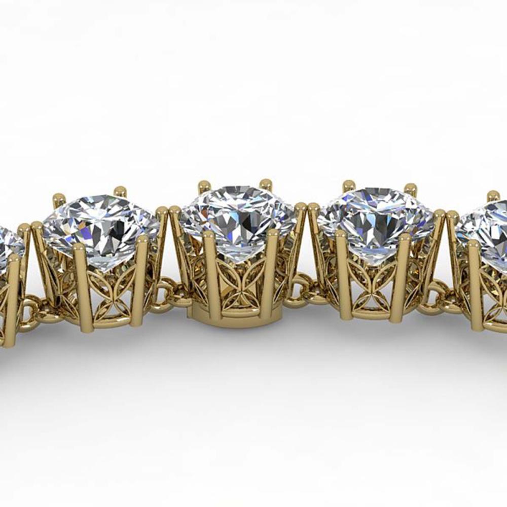 33 ctw SI Diamond Necklace 18K Yellow Gold - REF-5280V2Y - SKU:35926
