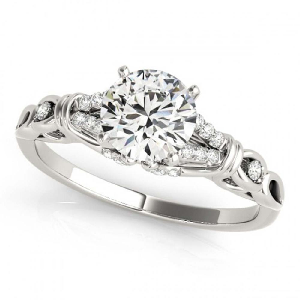 0.70 ctw VS/SI Diamond Solitaire Ring 14K White Gold - REF-88M6F - SKU:25709