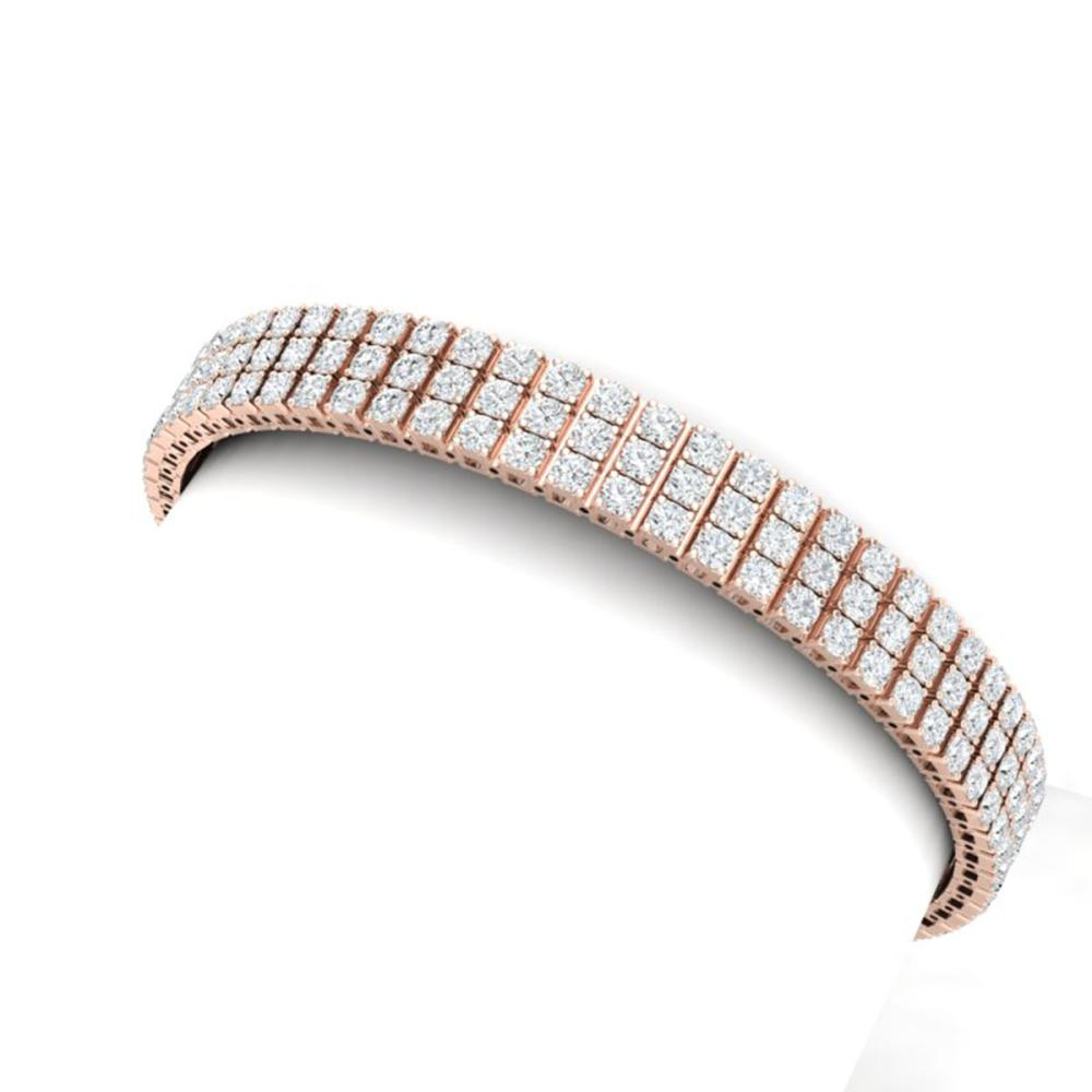 12 ctw SI/I Diamond Bracelet 18K Rose Gold - REF-682Y5X - SKU:39942