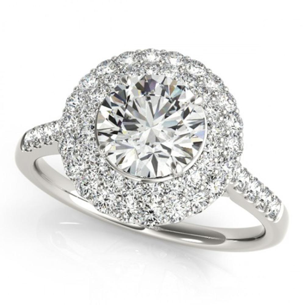 1.25 ctw VS/SI Diamond Halo Ring 14K White Gold - REF-102K8W - SKU:24297