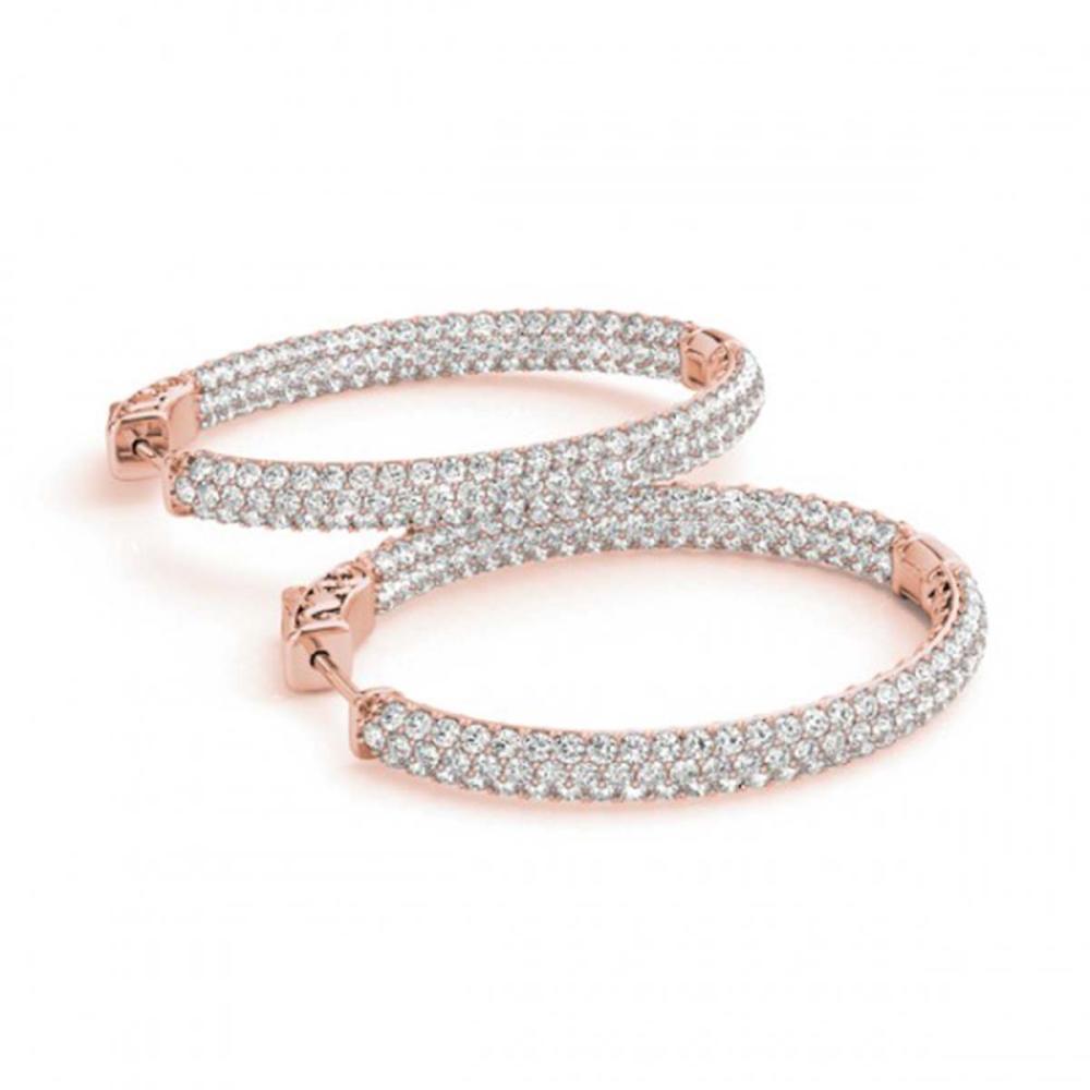 2.75 ctw Diamond VS/SI 38 mm Hoop Earrings 14K Rose Gold - REF-289M3F - SKU:29186