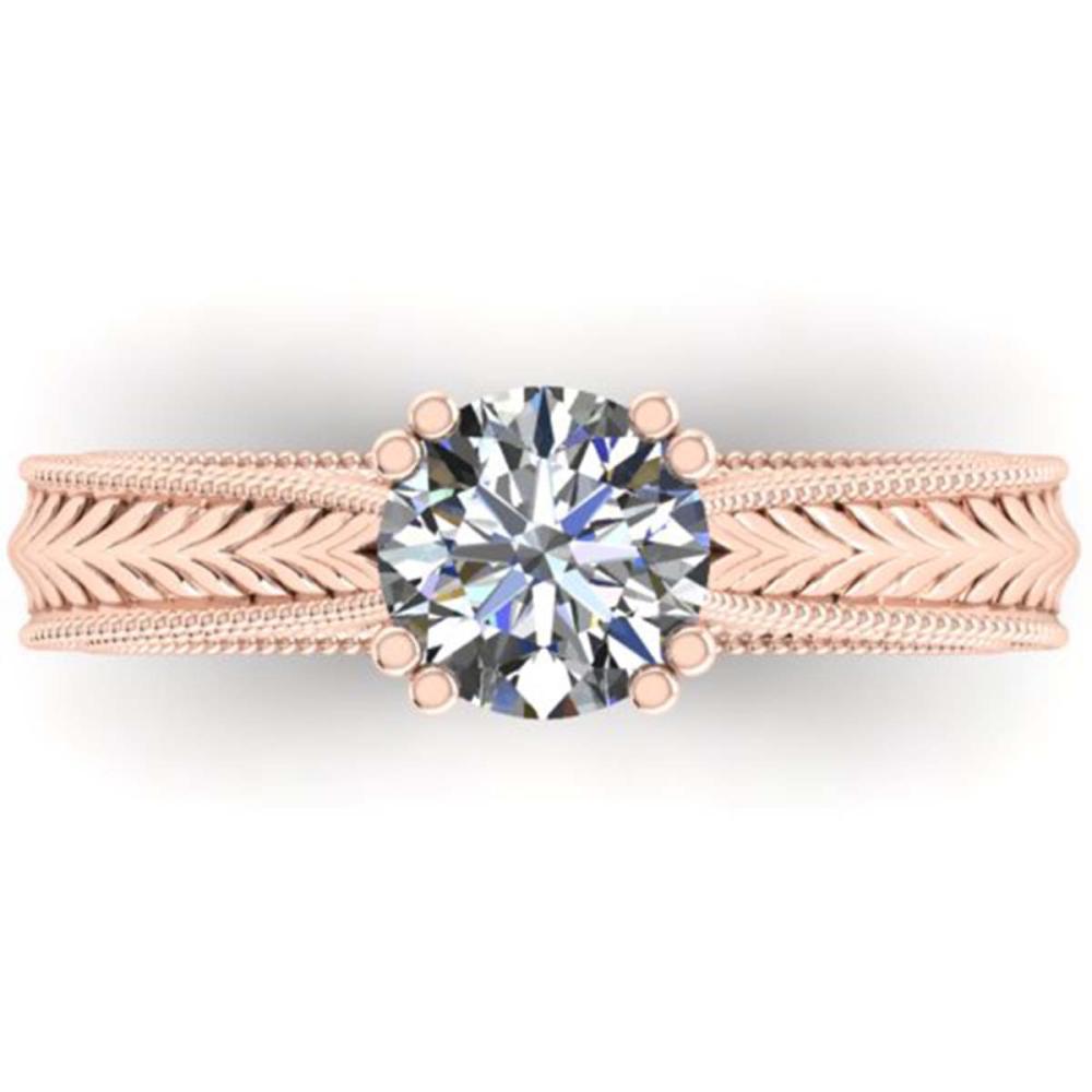 1.06 ctw Solitaire VS/SI Diamond Ring 18K Rose Gold - REF-305X5R - SKU:32835