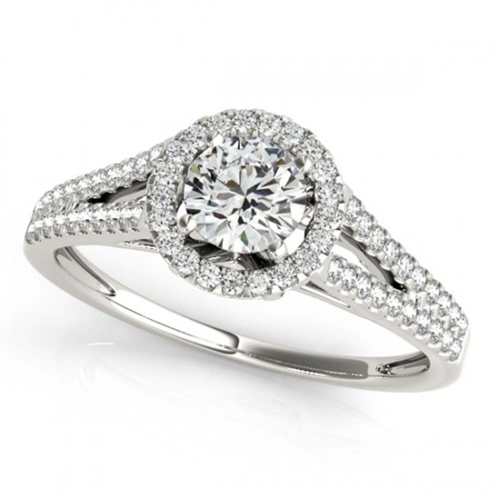 1.30 ctw VS/SI Diamond Solitaire Halo Ring 14K White Gold - REF-271Y6X - SKU:24494