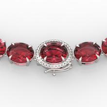 145 CTW Pink Tourmaline & VS/SI Diamond Necklace 14K Gold - 22310-REF-1955Z6K