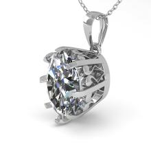 1 CTW VS/SI Oval Diamond Solitaire Necklace 14K White Vintage Gold - 29565-REF-273N2Y