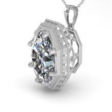 1 CTW VS/SI Oval Cut Diamond Solitaire Necklace 14K Art Deco Gold - 29799-REF-278X6H