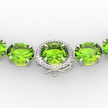 148 CTW Peridot & VS/SI Diamond Solitaire Necklace 14K Gold - 22307-REF-913R8N