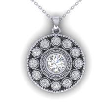 0.91 CTW Certified VS/SI Diamond Art Deco Necklace 18K Gold - 32726-REF-139H3Z
