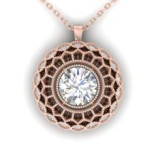 1.25 CTW Certified VS/SI Diamond Art Deco Necklace 18K Gold - 32817-REF-371M3R
