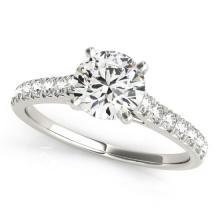 1 CTW Certified VS/SI Diamond Solitaire Bridal Ring 14K White Gold - 25433-REF-117Z3K