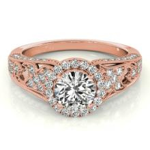 1.25 CTW Certified VS/SI Diamond Bridal Solitaire Halo Ring 14K Gold - 24421-REF-211R3N