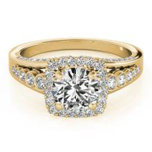 2 CTW Certified VS/SI Diamond Bridal Solitaire Halo Ring 14K Yellow Gold - 24796-REF-521R3N