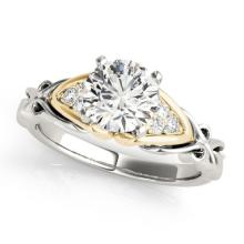 1.1 CTW Certified VS/SI Diamond Solitaire Bridal Ring 14K Two Tone Gold - 25673-REF-291Y2V
