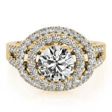 1.75 CTW Certified VS/SI Diamond Bridal Solitaire Halo Ring 14K Gold - 24775-REF-405K3W