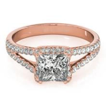 2.05 CTW Certified VS/SI Princess Diamond Solitaire Halo Ring 14K Gold - 24957-REF-648W2M