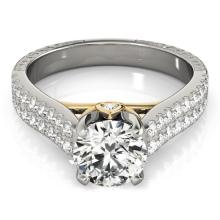 1.36 CTW Certified VS/SI Diamond Pave Bridal Ring 14K Two Tone Gold - 25944-REF-204X9H