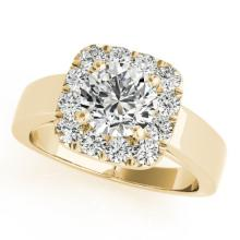 1.3 CTW Certified VS/SI Diamond Bridal Solitaire Halo Ring 14K Gold - 24745-REF-221M3R