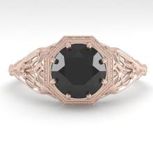 1.50 CTW Black Certified Diamond Engagment Ring Deco Size 7 Gold - 29843-REF-66Z9K