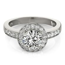 2 CTW Certified VS/SI Diamond Bridal Solitaire Halo Ring 14K White Gold - 24821-REF-580R7N