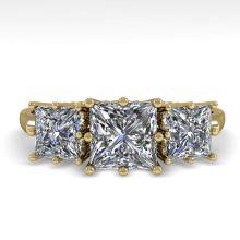 2.0 CTW Past Present Future VS/SI Princess Diamond Ring Gold - 29734-REF-395H7Z