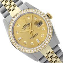 Rolex Ladies Two Tone 14K Gold/SS , Diamond Dial & Diamond Bezel, Saph Crystal - REF-368Z7Y