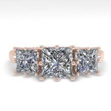 2.0 CTW Past Present Future VS/SI Princess Diamond Ring Gold - 29732-REF-395Y7V